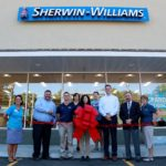 Ribbon Cutting at Sherwin Williams
